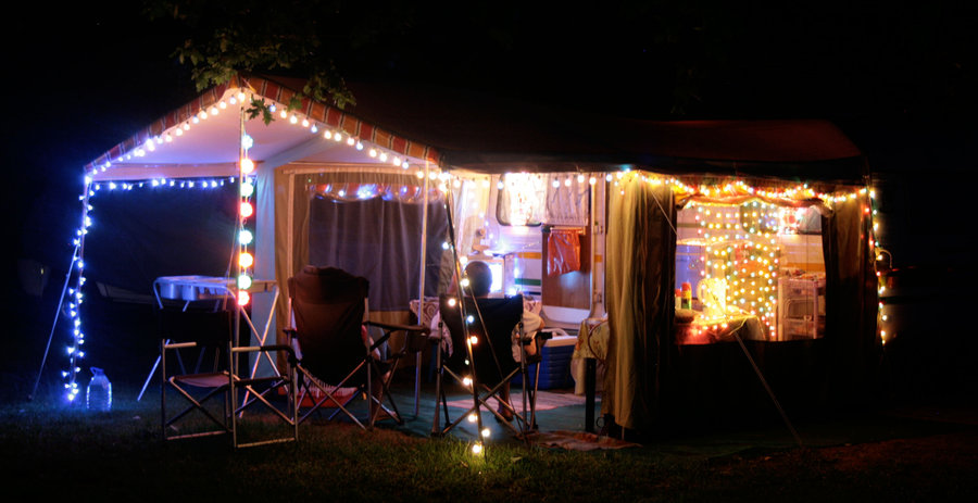 ... fun AND functional at our last camping trip was Christmas Lights