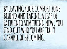 a personal recount on leaving ones comfort zone